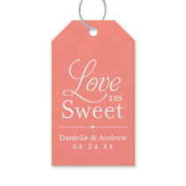 Wedding Favor Tags | Love is Sweet - Coral