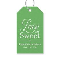 Wedding Favor Tags | Love is Sweet - Green