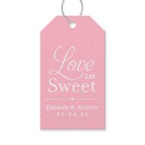 Wedding Favor Tags | Love is Sweet - Pink