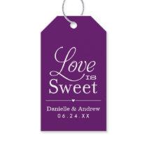 Wedding Favor Tags | Love is Sweet - Purple