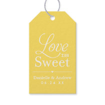Wedding Favor Tags | Love is Sweet - Yellow