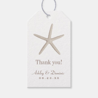 Wedding Favor Tags | Neutral Starfish Pack Of Gift Tags