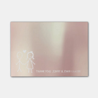 Wedding Favor Thank You Metallic Rose Gold Bubbles Post-it® Notes