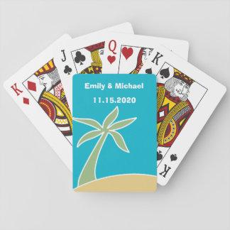 Wedding Favor Tropical Beach Playing Cards