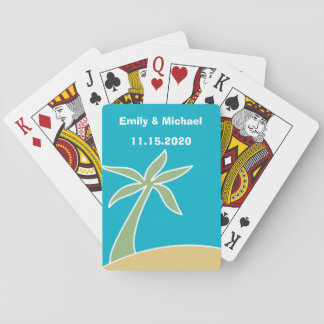 Wedding Favor Tropical Beach Playing Cards