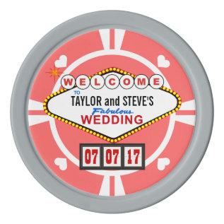 Wedding Favor Vegas Casino Poker Chips at Zazzle