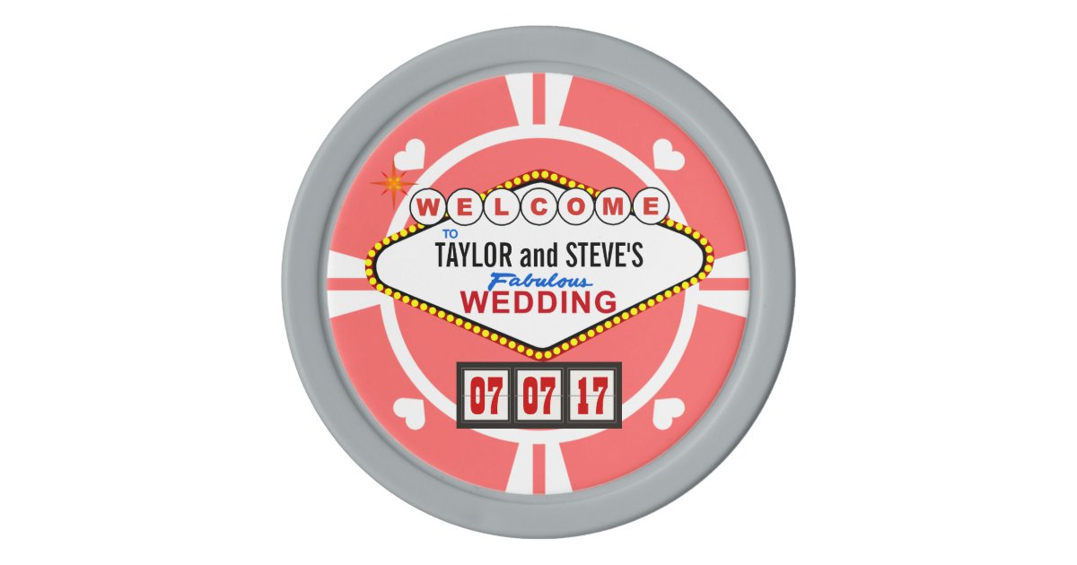 Wedding Favor Vegas Casino Poker Chips Zazzle