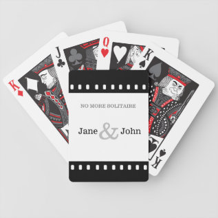 Wedding Favor With A Movie Film Theme Bicycle Playing Cards at Zazzle