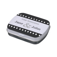 Wedding Favor With A Movie Film Theme Candy Tin at Zazzle
