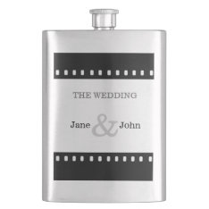 Wedding Favor With A Movie Film Theme Hip Flask at Zazzle