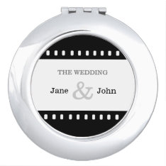Wedding Favor With A Movie Film Theme Mirror For Makeup at Zazzle