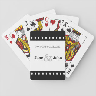 Wedding Favor With A Movie Film Theme Playing Cards at Zazzle