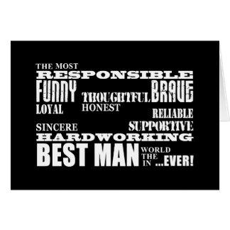 Wedding Favors Best & Greatest Best Men Qualities Card