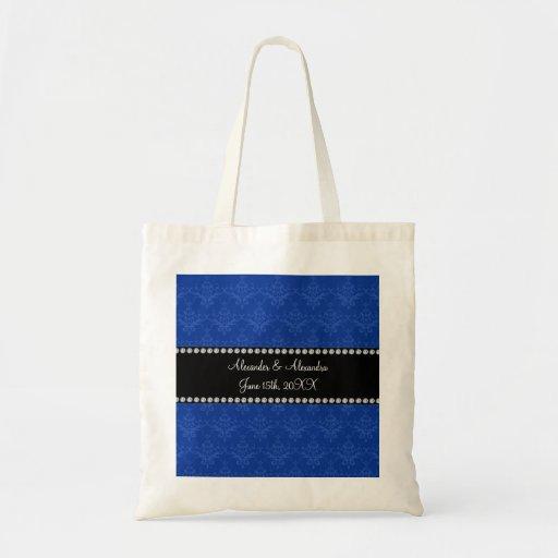 Wedding favors Blue damask Bag