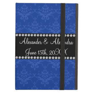 Wedding favors Blue damask iPad Air Case