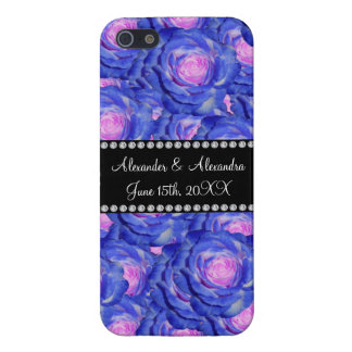 Wedding favors Blue roses Case For iPhone 5