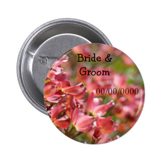 Wedding Favors buttons Bride Groom Name Save Date