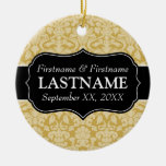 Wedding Favors - Damask Gold and Black Ornaments