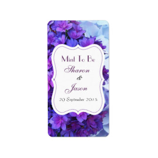 Wedding Favors Mint Sweet Labels Mint To Be
