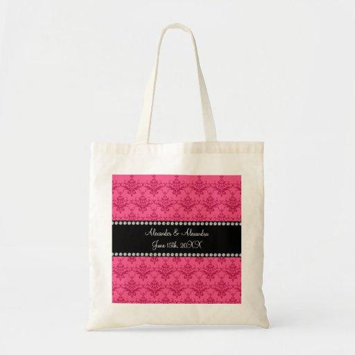 Wedding favors Pink damask Bag