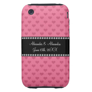 Wedding favors pink hearts tough iPhone 3 cases