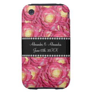 Wedding favors Pink roses iPhone 3 Tough Case
