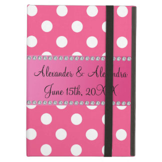 Wedding favors pink white polka dots case for iPad air