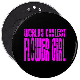 Wedding Favors : Pink Worlds Coolest Flower Girl Pinback Button