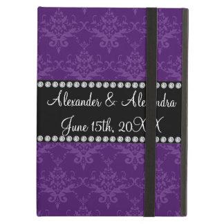 Wedding favors Purple damask iPad Cover