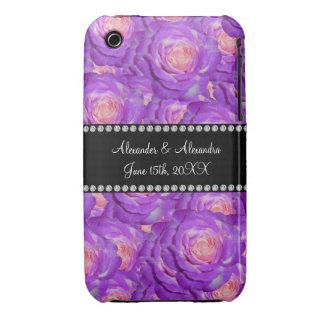 Wedding favors Purple roses iPhone 3 Case-Mate Case