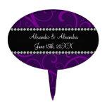 Wedding favors purple swirls cake pick