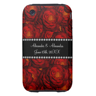 Wedding favors Red roses Tough iPhone 3 Cases