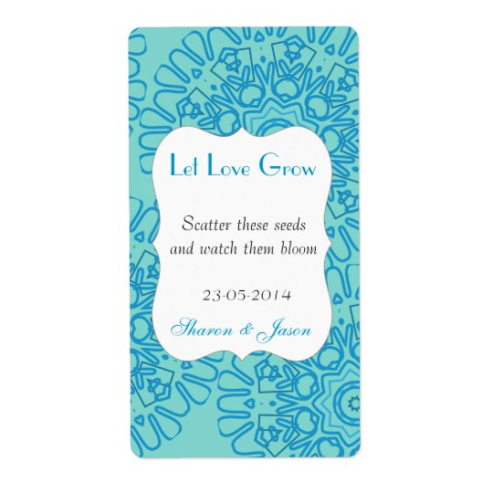 Seed Packet Template Wedding Favor | Zazzle.com