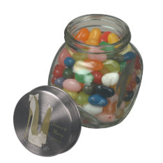 Wedding Favour Jelly Bean Jar Gifts Glass Candy Jar at Zazzle