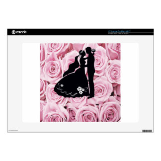 Wedding Favour Roses Silhouette Wedding Favour Skin For Laptop