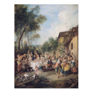 Wedding Feast in the Village Postcard