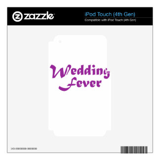 Wedding Fever Skin For iPod Touch 4G