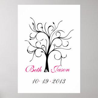 Wedding Finger Print Tree