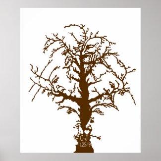 Wedding Fingerprint Big Oak Tree Guestbook