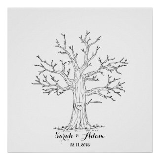 Wedding Fingerprint Tree - a great guestbook