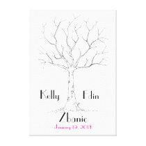 Wedding Fingerprint Tree Canvas Print