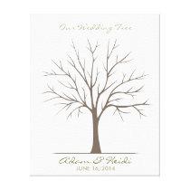 Wedding Fingerprint Tree – Classic Canvas Print