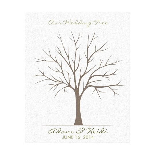 Wedding Fingerprint Tree – Classic Canvas Print | Zazzle.com