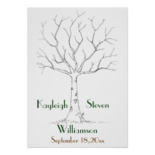 wedding tree posters photo prints zazzle
