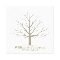 Wedding Fingerprint Tree - Square Canvas