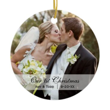 Christmas Themed Wedding  |  First Christmas Photo Ornament
