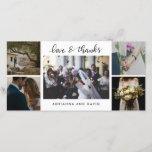 "Wedding Five Photos Forever Thankful Script Thank You Card<br><div class=""desc"">Wedding Five Photos Forever Thankful Script</div>"