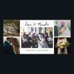 "Wedding Five Photos Love And Thanks Script Card<br><div class=""desc"">Wedding Five Photos Love And Thanks Script</div>"