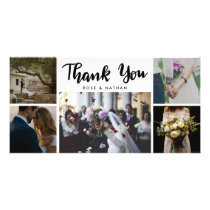 Wedding Five Photos Thank You Script Card