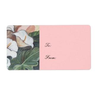 wedding floral set label